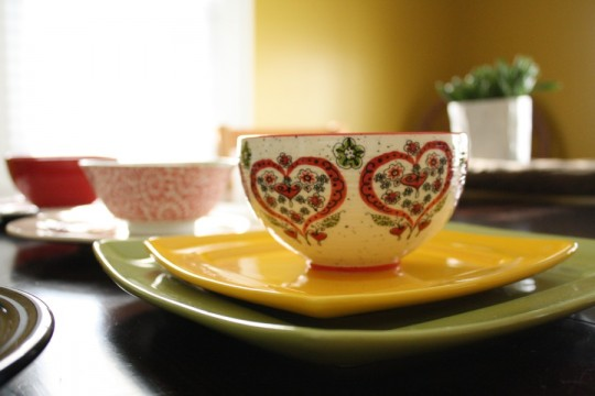 Heart bowl from Anthropologie.