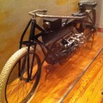 First-ever motorcycle (was at the Smithsonian National Air & Space museum).