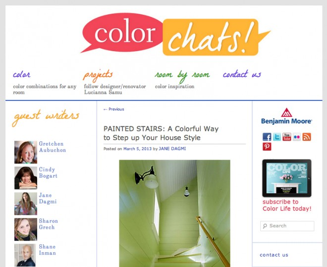 Color Chat, Painted Stairwell featuring Merrypad