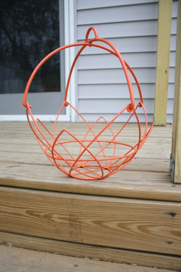 A finished basket.