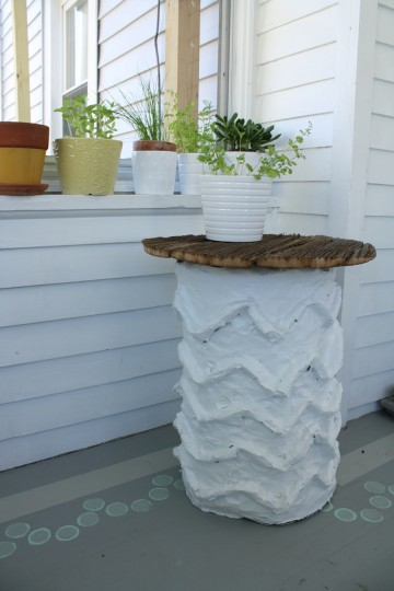 A finished side table... or is it?