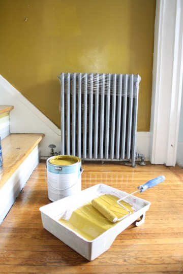 Painted behind the radiator, successfully.