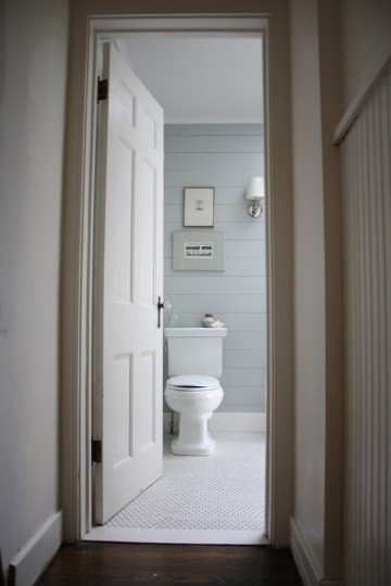Shiplap bathroom: sneak peek!