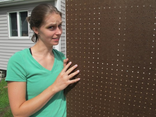 Lots of pegboard holes to paint. Lots of confusion.