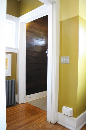 New entryway. No big surprise, more shiplap.
