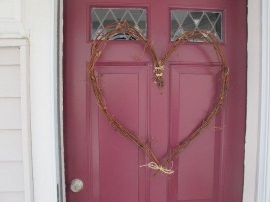 Getting my Valentine's adoration on with a heart wreath.