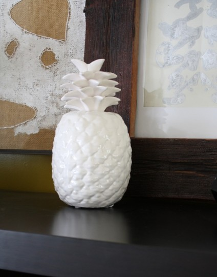 A ceramic pineapple. Who thinks these things up? (If it was you, you're awesome.)