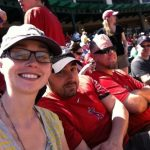 With Pete and Marty at the Angels game.