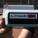 The interchangable 36V Lithium-ion battery for Black & Decker outdoor products.