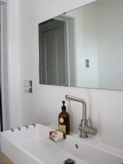 How to install a custom bathroom mirror.