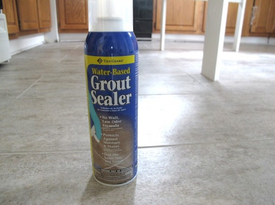 Non-toxic spray grout sealer.