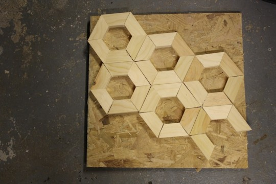Hexagon construction taking shape.