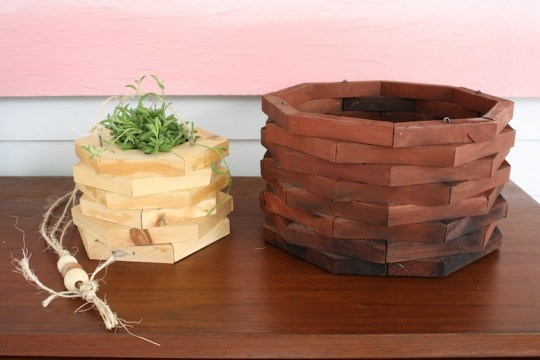 Handmade planter vs. garage sale'd planter!