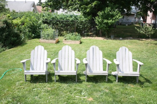 Hello, new-to-us adirondack chairs.