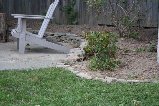 Bonus: Extra tiny flagstone scraps allowed us to extend around one garden bed.