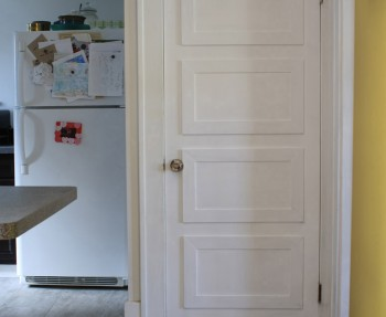 A DIY basement door repair and makeover.