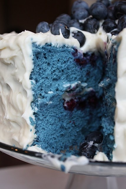 Perfect blue velvet cake via Adventures In Cooking.