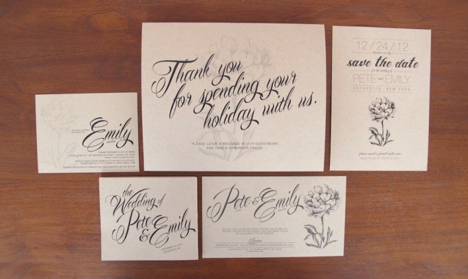 The full suite of our wedding invites and materials.
