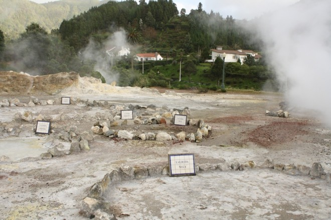 Caldieras in Furnas.