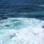 Stunning ocean water. It raged that day, all shades of blue and turquoise.