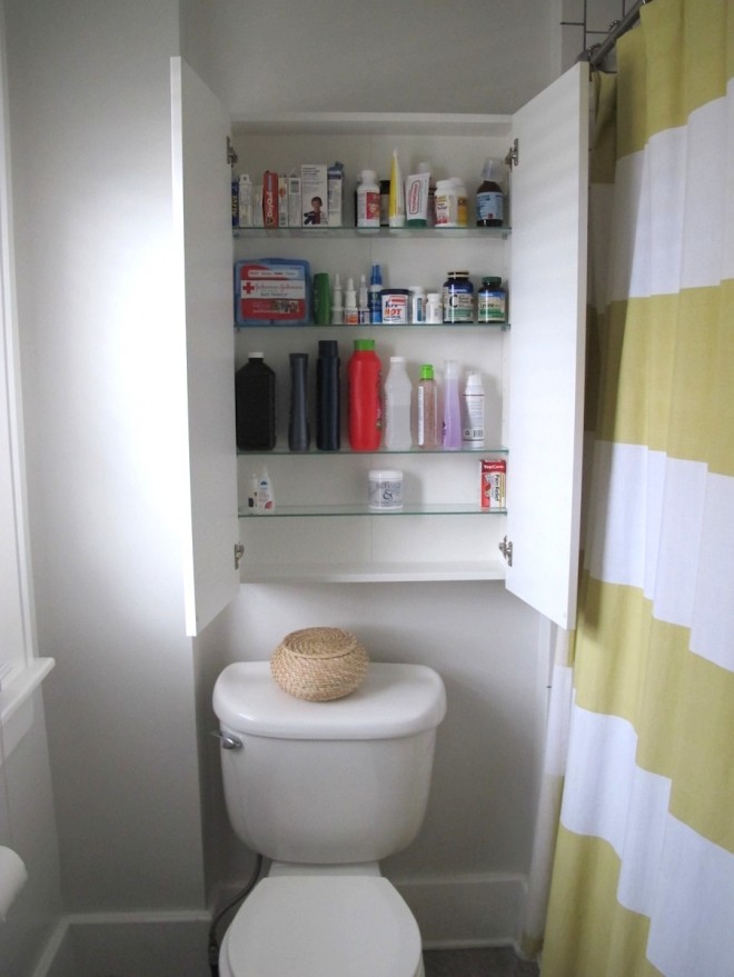 Plenty of room for all of our medicines and bathroom accessories.