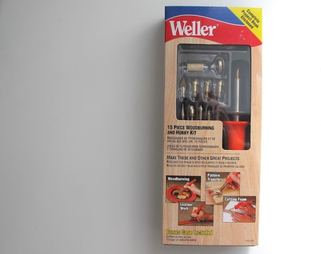 Our newest tool: The Weller Woodburning Kit.