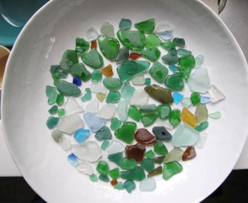 Pieces of beach glass from the Azores.