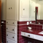 So much bathroom storage that I squeal with joy.