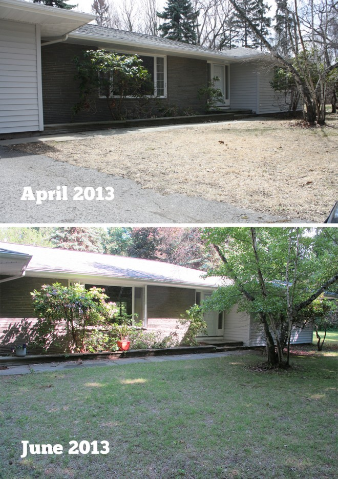 Our home, comparing April and June 2013.