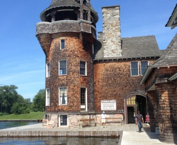 The Boldt Castle Boathouse with perfectly, intentionally stained shingles.