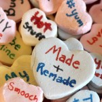 DIY Necco wafers / Conversation Hearts on Made + Remade