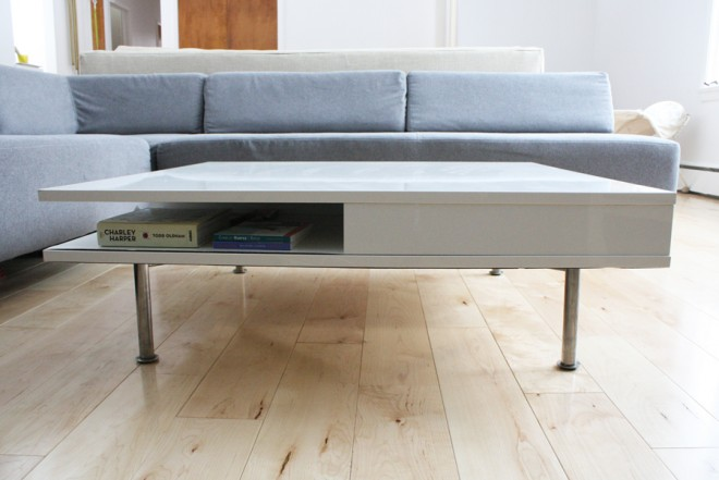 "A short 12"" coffee table."