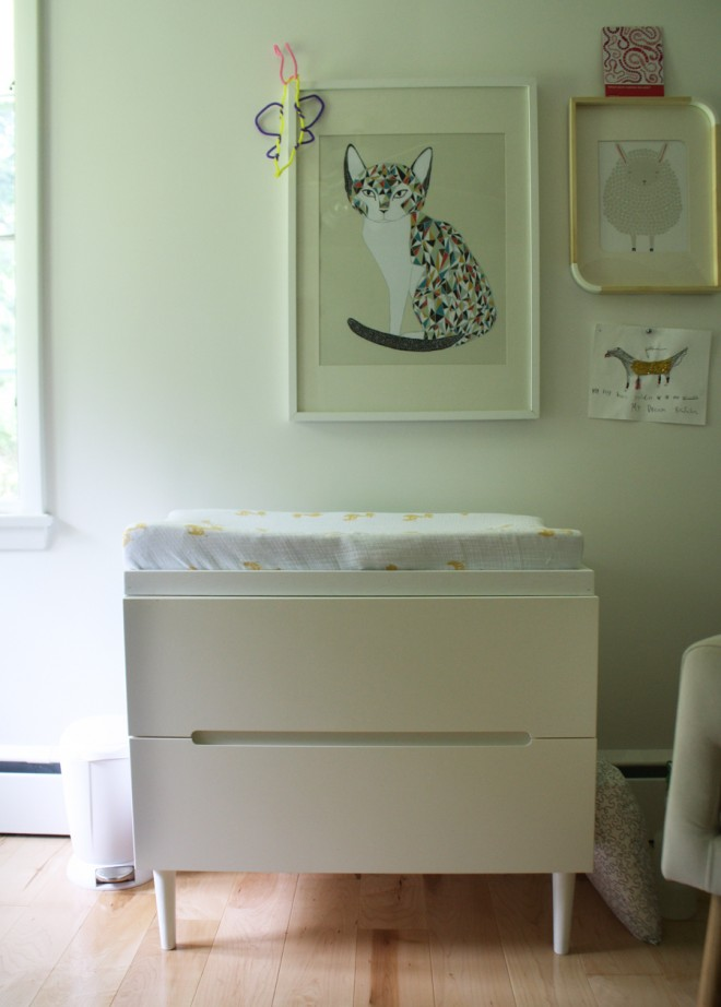 Updating our IKEA SVEIO as a baby changing table.