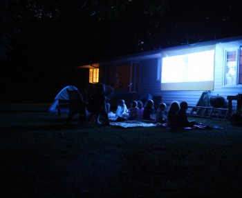 Backyard movie nights at our little merrypad.